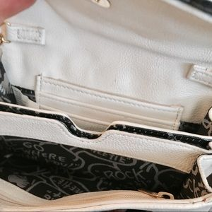 Betsey Johnson Bags - Betseyville white quilted bow purse vegan boho mod